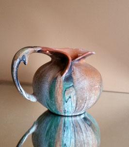 Ceramic Vase,Vintage Art Nouveau Vase, Unusual Vase Art Ceramics and Pottery, Collectible Art Object - Ceramic Pitcher Artistic Design