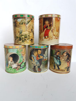 Vintage enamel storage Tin Box, Dutch Holland Vintage