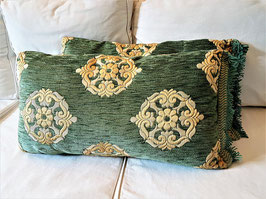 Two Handmade Pillows made with 18th Century Aubusson Tapestry