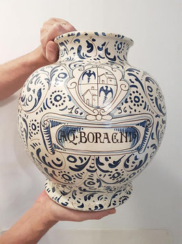 Antique 17th century Apothecary jar hand-painted London Delft Blue Vessel