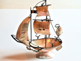 Antique French Mother of Pearl Shell Sail Boat