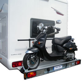 Motorradträger 120kg für Wohnmobile / Reisemobile