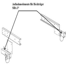 Aufnahmeelemente für Heckträger SBA 3°