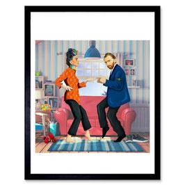 Ben The Rules Frida & Vincent A3 Print 014