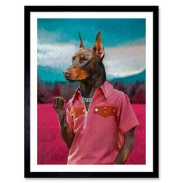 Ben The Rules  A3 Print 'Trap Doberman' 009