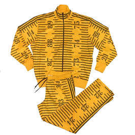 Adidas Originals X Jeremy Scott Full Tape Measure Tracksuit Jacket and Bottoms