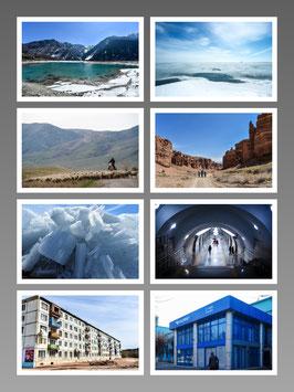 2017年5月リリース カザフスタン写真ポストカード8枚セット