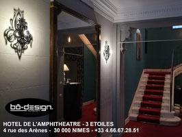 APPLIQUE MURALE DESIGNER / MODELE TULIPIA BLACK