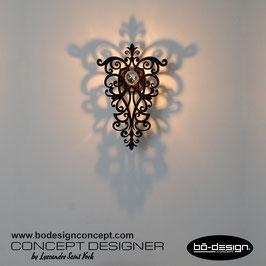 APPLIQUE MURALE BAROQUE DESIGNER / MODELE CHAMBORD BLACK