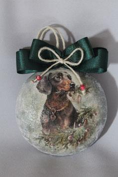 "Decoupage Medallion ""Treue Hunde"""