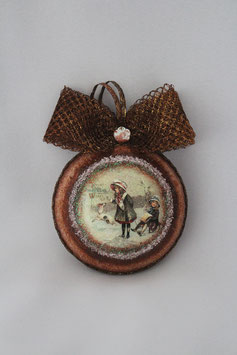 "Decoupage Medallion ""Christmas"""