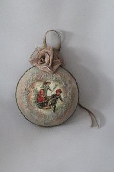 """Decoupage Medallion """"Fröhliche Schlittenfahrt"""""""