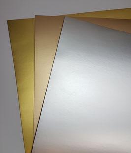 Papier Metalleffekt matt verschiedene