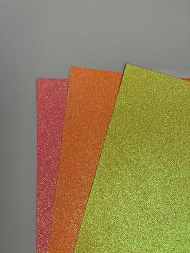 Papier Glitter Neon A4 verschiedene