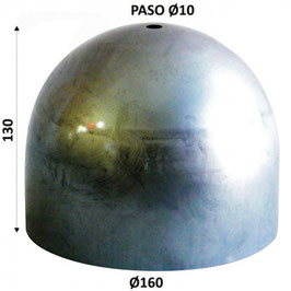 Paralume in ferro 130x160mm