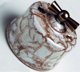 Interruttore deviatore Invertitore porcellana decoro marmo