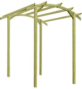 Pergolato ad arco in legno impregnato in autoclave