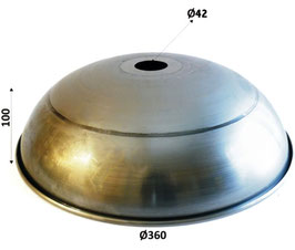 Paralume in ferro 100x360mm