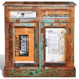 Credenza vintage legno riciclato  2 cassetti 2 sportelli