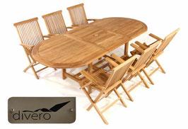 Tavolo 170/230 + 6 sedie con braccioli