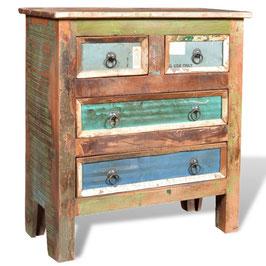 Armadietto 4 cassetti legno riciclato