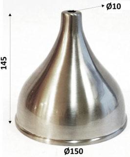 Paralume acciaio opaco altezza 145 x Ø 150mm