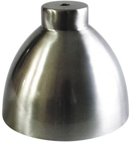 Paralume in acciaio opaco altezza 135 x Ø 115mm