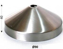 Rosone conico acciaio Ø 90