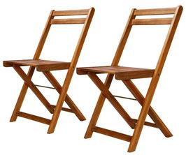 Set 2 sedie Bistrò in acacia