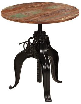 Tavolino industrial manovella