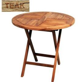 Tavolino Teak Tondo Ø80 cm