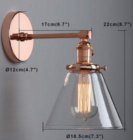 Plafoniera vintage vetro switch