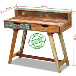 Scrivania in legno riciclato