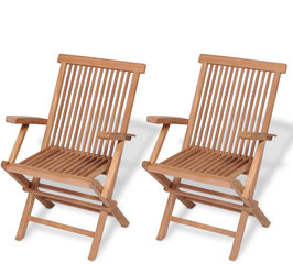 Set 2 sedie Boston in Teak