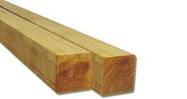 2 Pali in legno impregnato