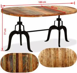 Tavolo industriale ovale