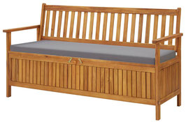 Panca legno di acacia riponi cuscini 150cm
