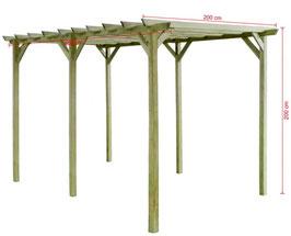 Gazebo legno trattato 4x2 m
