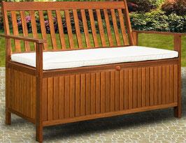 Panca in legno di acacia riponi cuscini