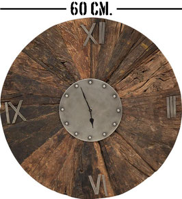 Orologio legno riciclato