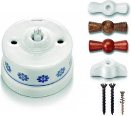 Deviatore ceramica  decoro  BLU