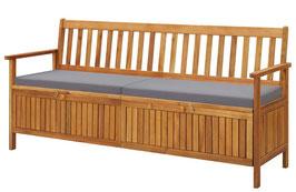 Panca legno di acacia riponi cuscini 170cm
