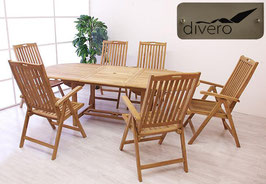Tavolo 170/230 + 6 sedie reclinabili