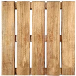 8 Piastrelle  pino impregnato 50x50
