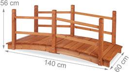 Ponte Decorativo in legno rossiccio