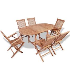 Tavolo teak + 6 sedie