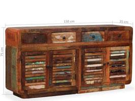 Credenza in legno riciclato
