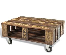 Tavolino Pallet con ruote