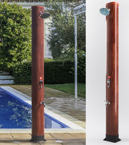 Doccia solare finitura legno - 37 Litri