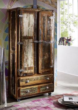 Armadio #39 - serie frigo legno riciclato